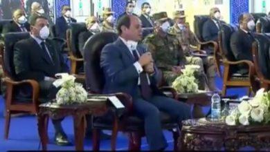 """صورة السيسى يوجه رسالة هامة للمصريين: """"عايزين نحتفل بعدم وجود إصابات أو وفيات بكورونا"""""""